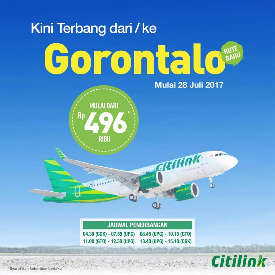 Jadwal Penerbangan Citilink Jakarta Gorontalo - harga tiket