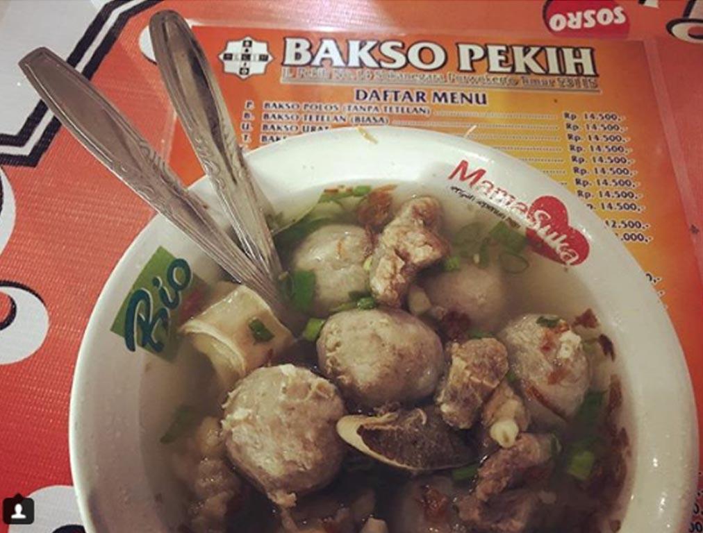 bakso pekih - kuliner purwokerto - tempat makan di purwokerto