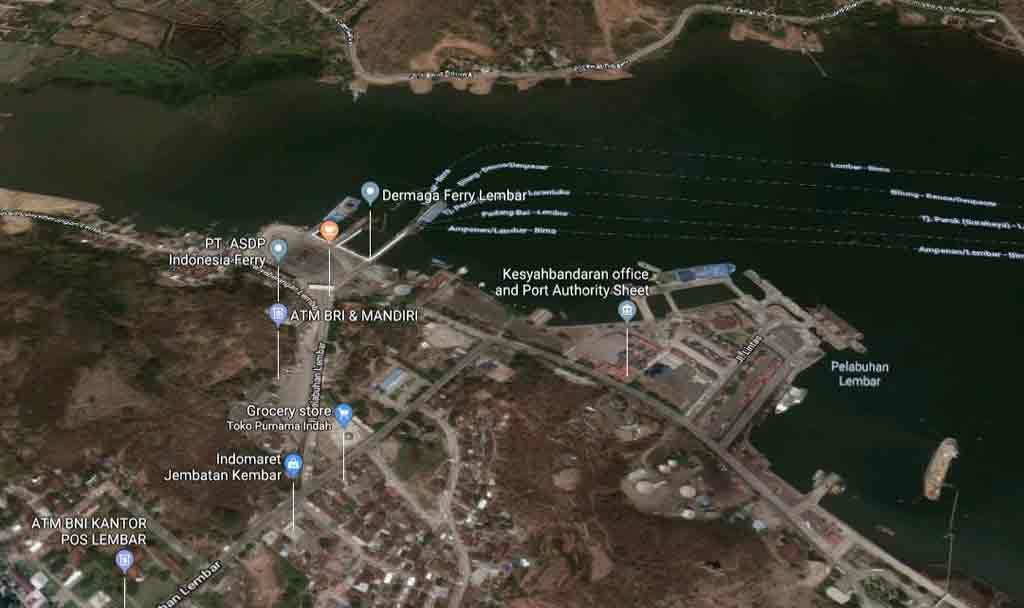 Pelabuhan Lembar - Dermaga Ferry Lembar - Lombok