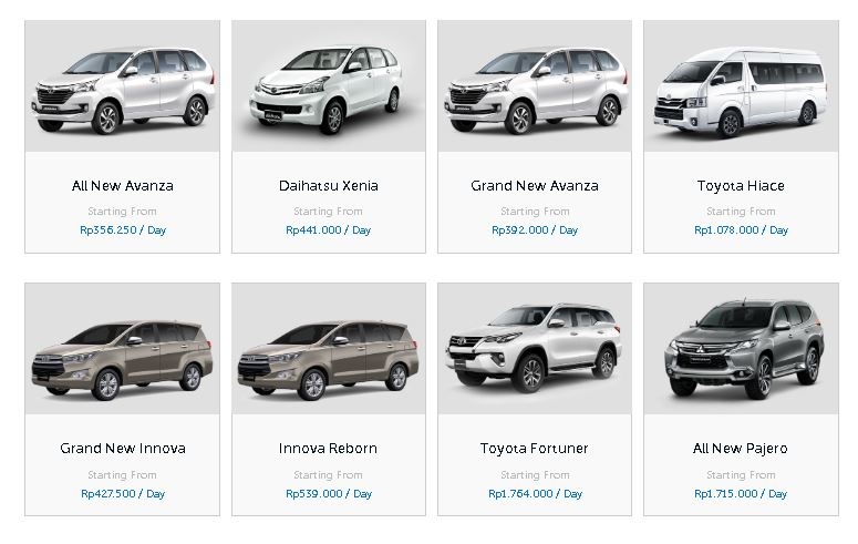 Rental Mobil Manado - Sewa oto Manado - murah