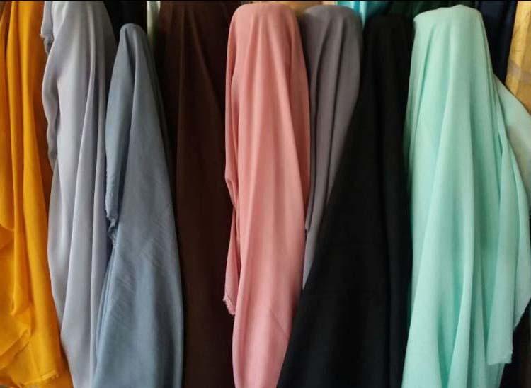 bahan hijab polycotton