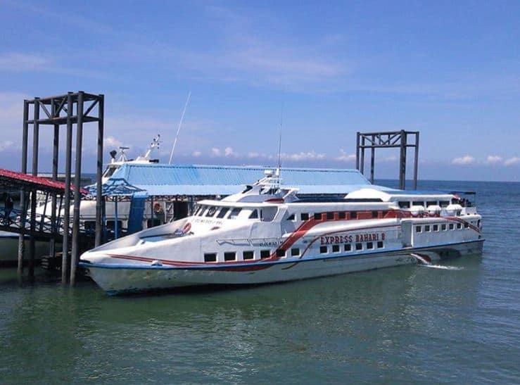 kapal cepat palembang bangka - boom baru tanjung kalian - @lukm4nulhakim