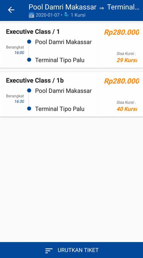 Beli tiket online - Harga Tiket Damri Makassar Palu