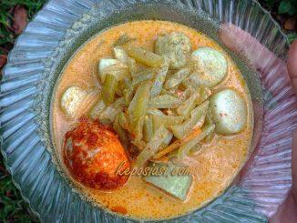 Resep Kuah Lontong Sayur Labu Siam