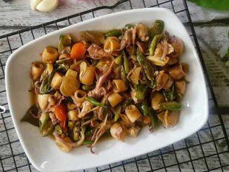Cara memasak Oseng Cumi Asin - @niguayola @