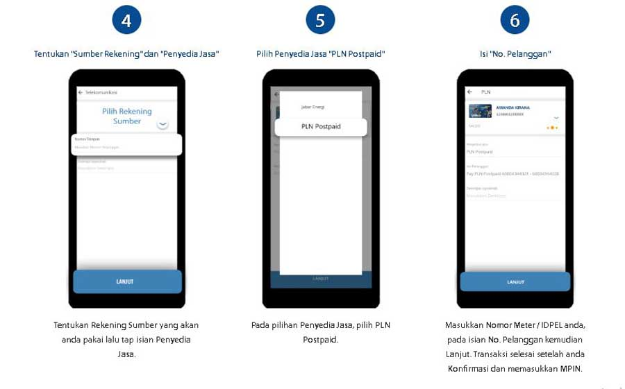 Cara Bayar Listrik Lewat M Banking Mandiri Online Bank - bankmandiricoid - 3