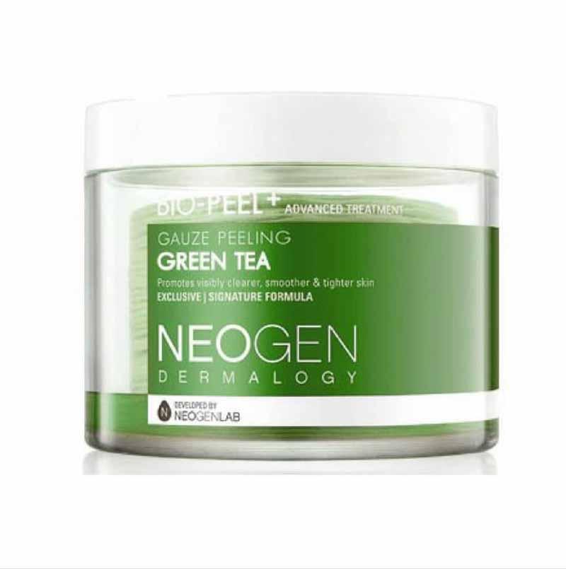 Skincare Korea untuk kulit sensitif - Neogen Bio-Peel Gauze Peeling Green Tea