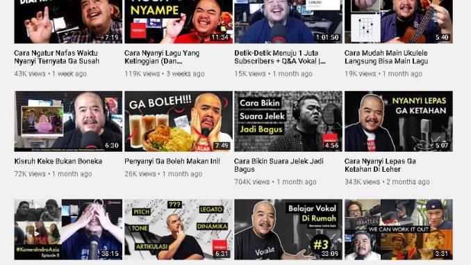 Indra Aziz kanal youtube VokalPlus