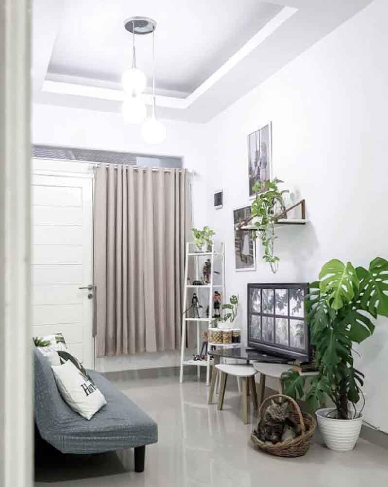 foto gambar contoh ruang tamu ruang keluarga @amalyahode
